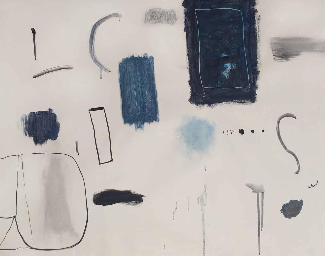 INTERACTION, 60,9x 76,2 cm (24x30po) Acrylique et technique mixte sur toile