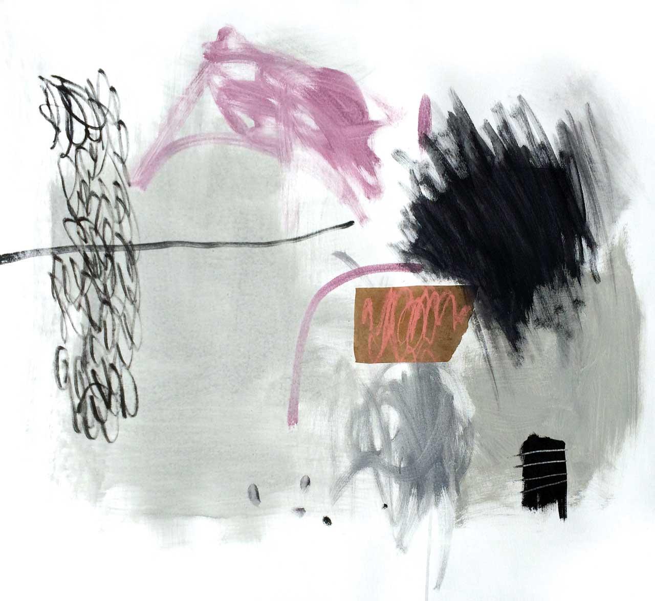 L'INSAISISSABLE 81,3x 94 cm (32x37po) Acrylique et technique mixte sur toile
