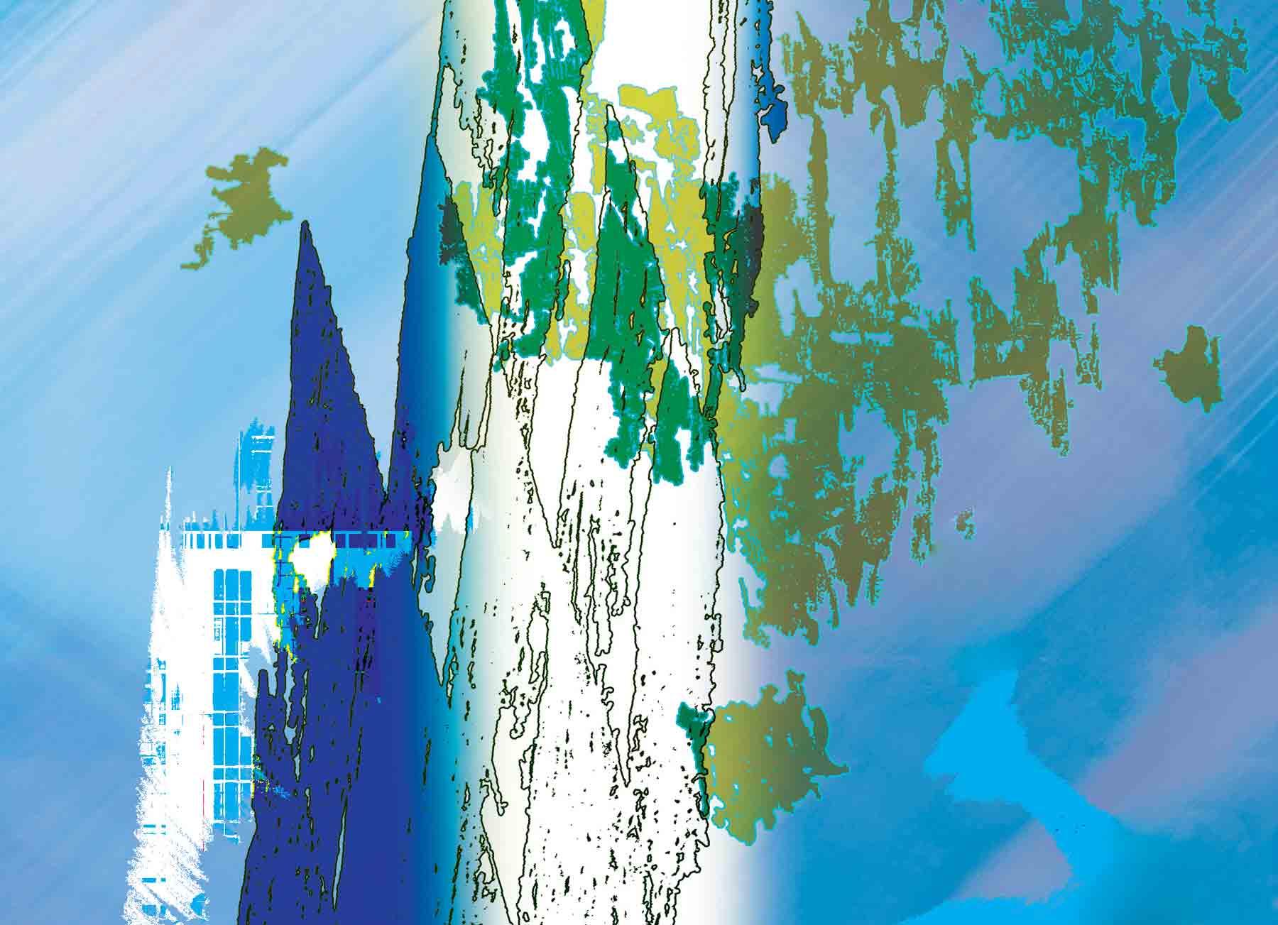 Résurgence-3 oeuvre numérique 2175×1575 pixels