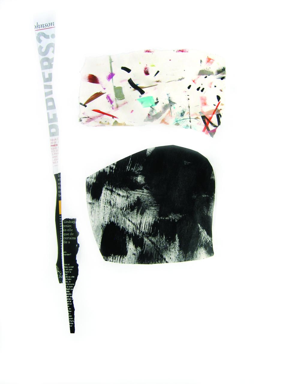 SANS TITRE 63,5 x 48,3 cm (25x19po)Acrylique et technique mixte papier (no B-39)