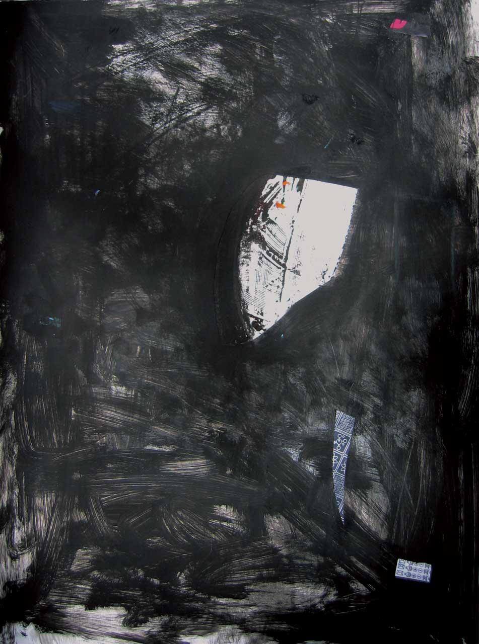 SANS TITRE 63,5 x 48,3 cm (25x19po)Acrylique et technique mixte papier (no B-41)